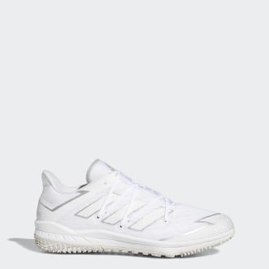 Men's Baseball White Adizero Afterburner Turf Shoes
