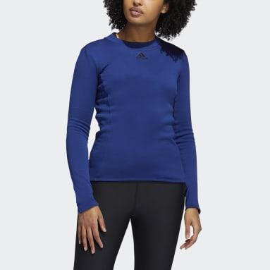 Women Running Blue COLD.RDY Long Sleeve Training Tee