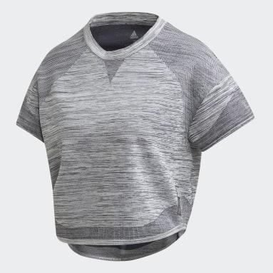 Camiseta Primeknit HD Gris Mujer Running