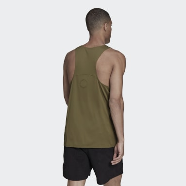 Camiseta sin mangas Made To Be Remade Running Verde Hombre Running