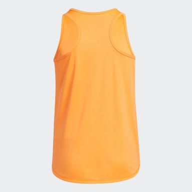 Youth Training Orange Tulip-Bottom Tank Top