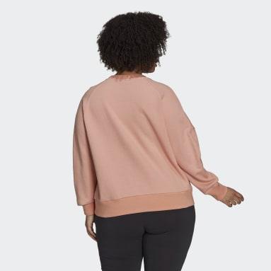 Women's Sportswear Pink adidas Sportswear Seasonals Stadium Sweatshirt (Plus Size)