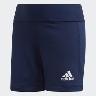 Children Volleyball Blue Alphaskin Volleyball Shorts