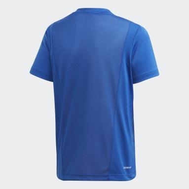 Kids 4-8 Years Gym & Training Blue Linear T-Shirt