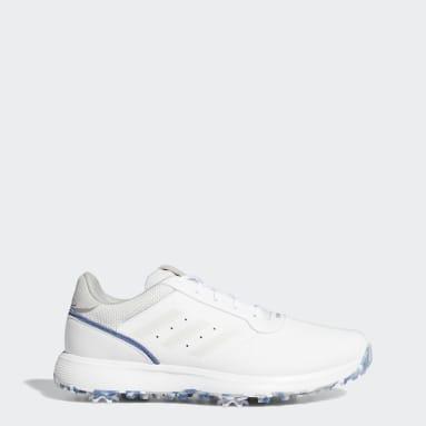 ผู้ชาย กอล์ฟ สีขาว รองเท้ากอล์ฟ S2G