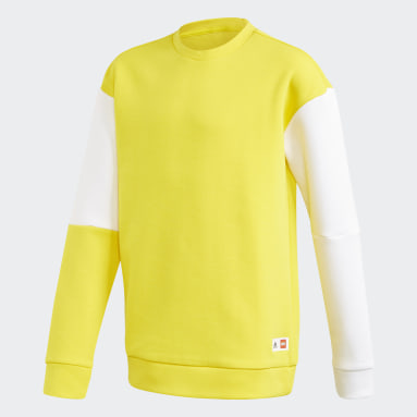 Youth Training Yellow adidas x Classic LEGO® Bricks Sweatshirt