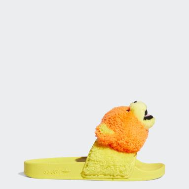 Originals สีส้ม รองเท้าแตะ Jeremy Scott Adilette Teddy