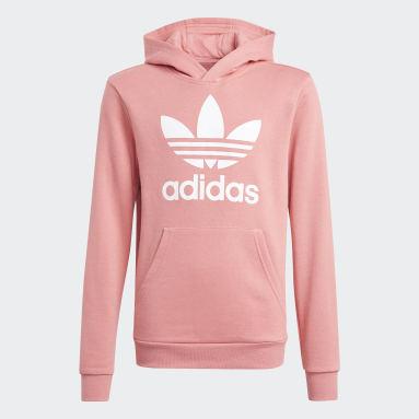 Sweat-shirt à capuche Trefoil Rose Enfants Originals