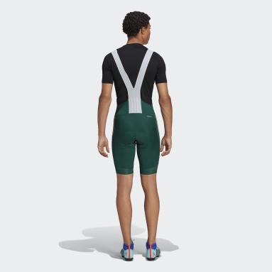 Men Cycling Green The Padded Cycling Bib Shorts
