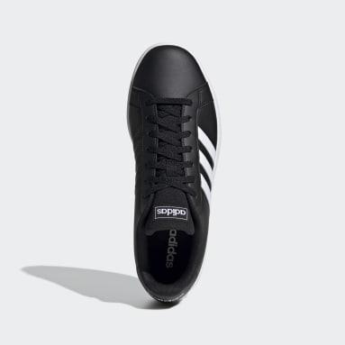 ผู้ชาย Sport Inspired สีดำ รองเท้า Grand Court Base