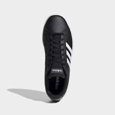 Men Sport Inspired Black Grand Court Base Shoes