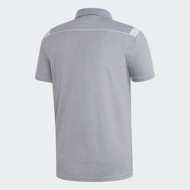 Herr Fotboll Grå Tiro 19 Cotton Polo Shirt