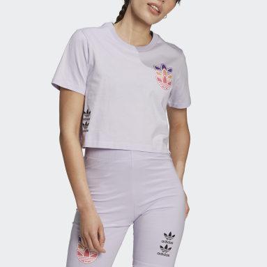 T-shirt Logo Play Pourpre Femmes Originals