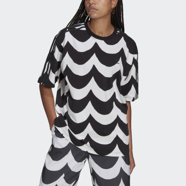 Kvinder Originals Sort Marimekko Oversize T-shirt