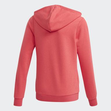 Girls Lifestyle Pink Essentials 3-Stripes Hoodie