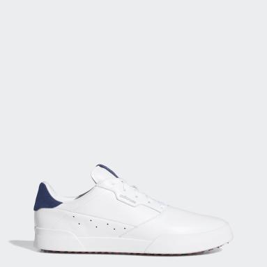 Golf White Adicross Retro Golf Shoes