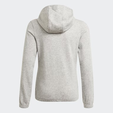 Youth 8-16 Years Sportswear Grey Essentials 3-Stripes Hoodie