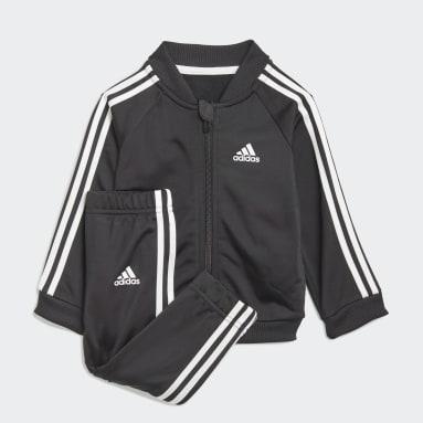 Infants Lifestyle Black 3-Stripes Tricot Track Suit