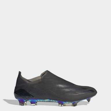 Chaussure X Ghosted+ Terrain souple noir Soccer