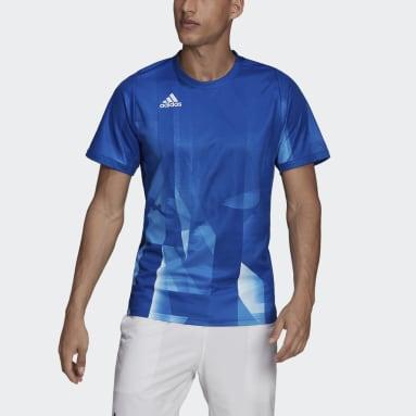Heren Tennis Blauw Freelift Tokyo HEAT.RDY Printed Tennis T-shirt