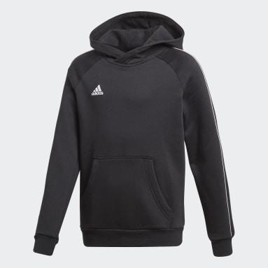 Sweat-shirt à capuche Core 18 Noir Enfants Fitness Et Training