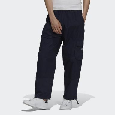 Muži Originals modrá Kalhoty adidas Adventure Cargo