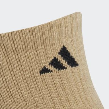 Men's Running Yellow Cushioned X Quarter Socks 3 Pairs