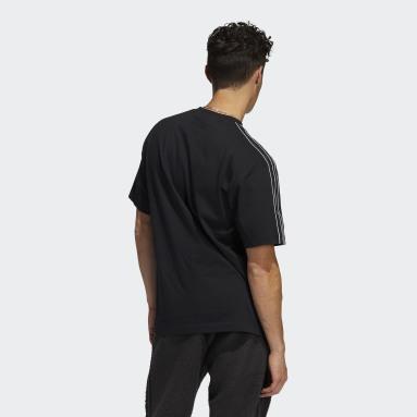 Men Originals Black adidas SPRT Shadow 3-Stripes Tee