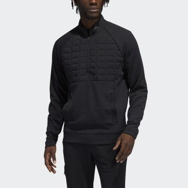 Men Golf Black Quarter-Zip Pullover