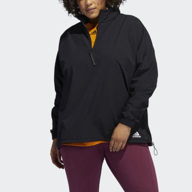 Ženy Beh čierna Top Training COLD.RDY Half-Zip (plus size)