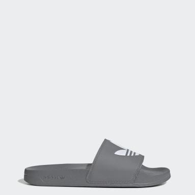 Women Originals Grey Adilette Lite Slides
