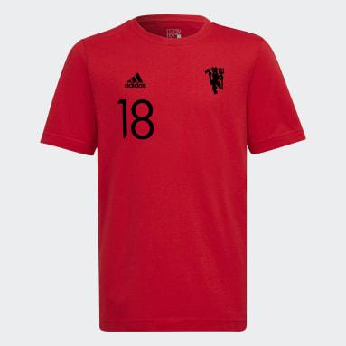Camiseta Manchester United Graphic Rojo Niño Fútbol