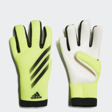 Kids Football Yellow X Training Goalkeeper Gloves