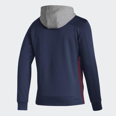 Sweat-shirt à capuche Canadiens Skate Lace Bleu Hommes Hockey