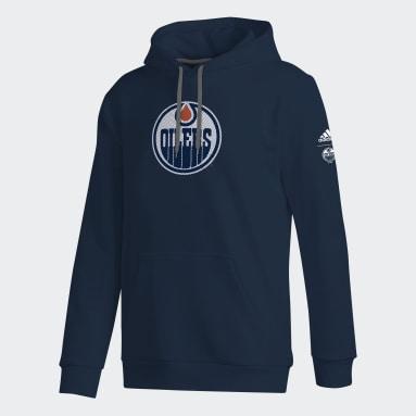Hoodie Oilers Center Split Pullover multicolore Hommes Hockey
