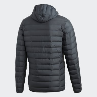 Männer City Outdoor Varilite Soft Hooded Daunenjacke Grau