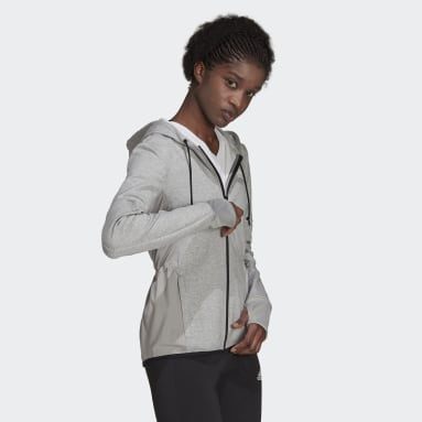 Women Training Grey Designed 2 Move Cotton Touch Hoodie