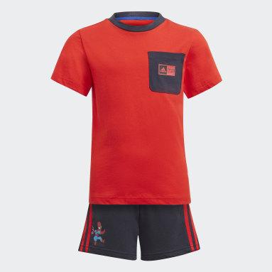 T-shirt Superhero Adventures Summer rouge Enfants Entraînement