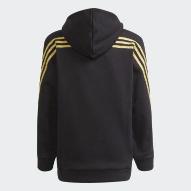 Girls Fitness Og Træning Sort Marimekko Primegreen 3-Stripes hættetrøje