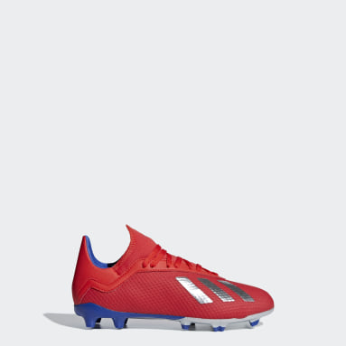 calzado de fútbol X 18.3 Terreno Firme (UNISEX) Rojo Niño Fútbol