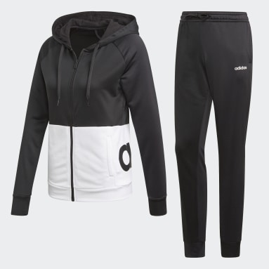 Buzo con Capucha Linear French Terry Negro Mujer Training
