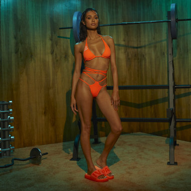 Dames Originals Oranje IVY PARK Wrap Bikinibroekje