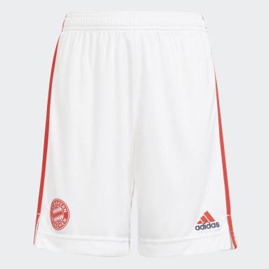 Youth 8-16 Years Football White FC Bayern 21/22 Third Shorts