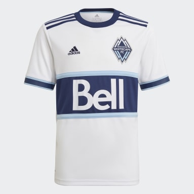 Youth Soccer White Vancouver Whitecaps FC 21/22 Home Jersey