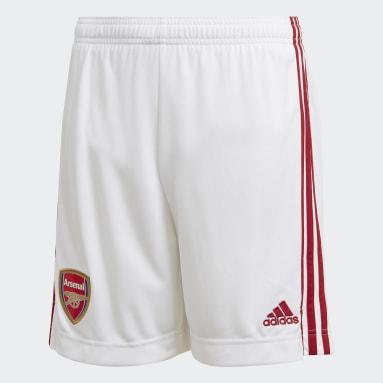 Boys Football White Arsenal Home Shorts