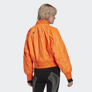 Women adidas by Stella McCartney Orange adidas by Stella McCartney Woven Bomber Jacket