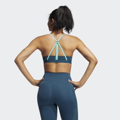 Women Gym & Training Turquoise All Me Support Summer Sports Bra