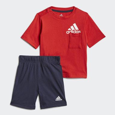 Badge of Sport Summer Set Czerwony