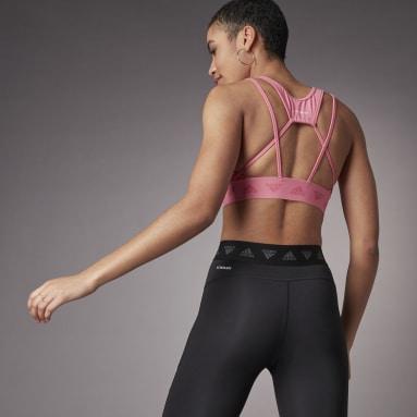 Women Trail Running Pink Hyperglam Light Support Bra