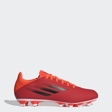 Chuteira Flexível X Speedflow.4 Campo Vermelho Futebol